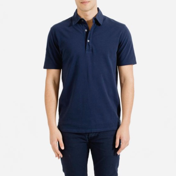 Everlane Other - Everlane men's navy shirt sleeve polo shirt